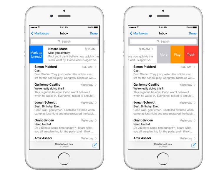 iOS 8 mail settings