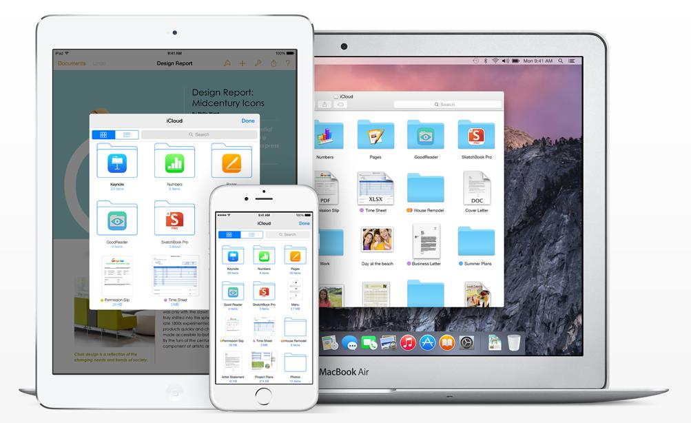 iCloud on iOS 8