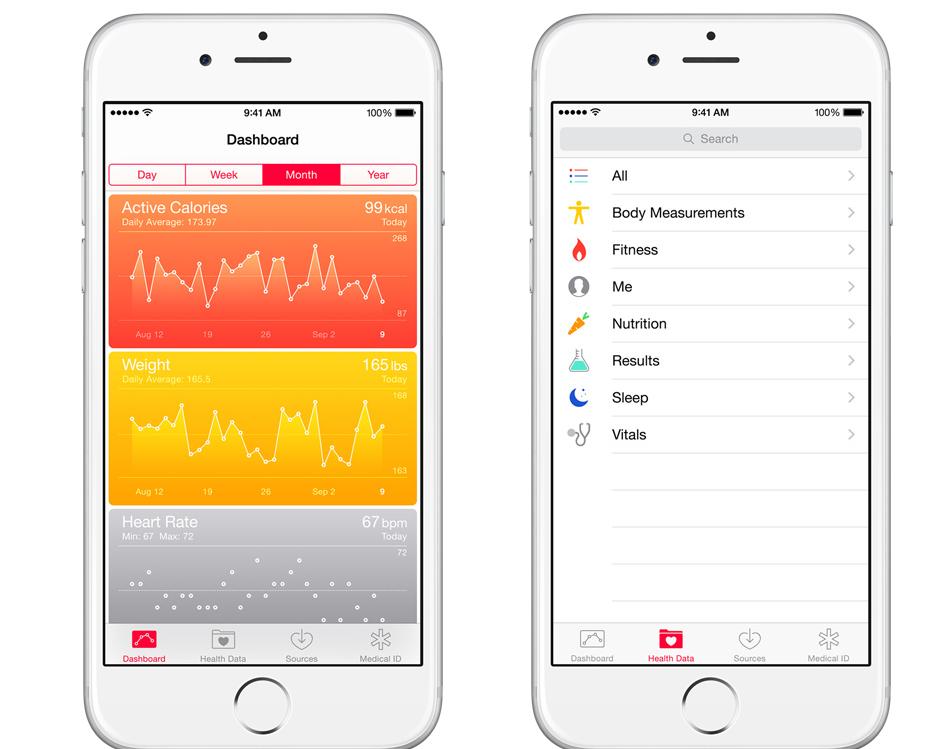 iOS 8 health app
