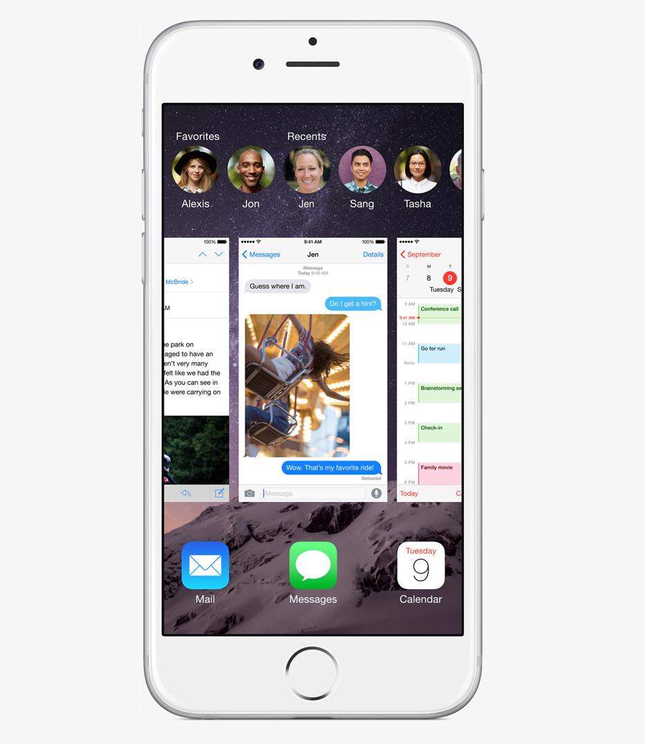 Multitasking interface iOS 8