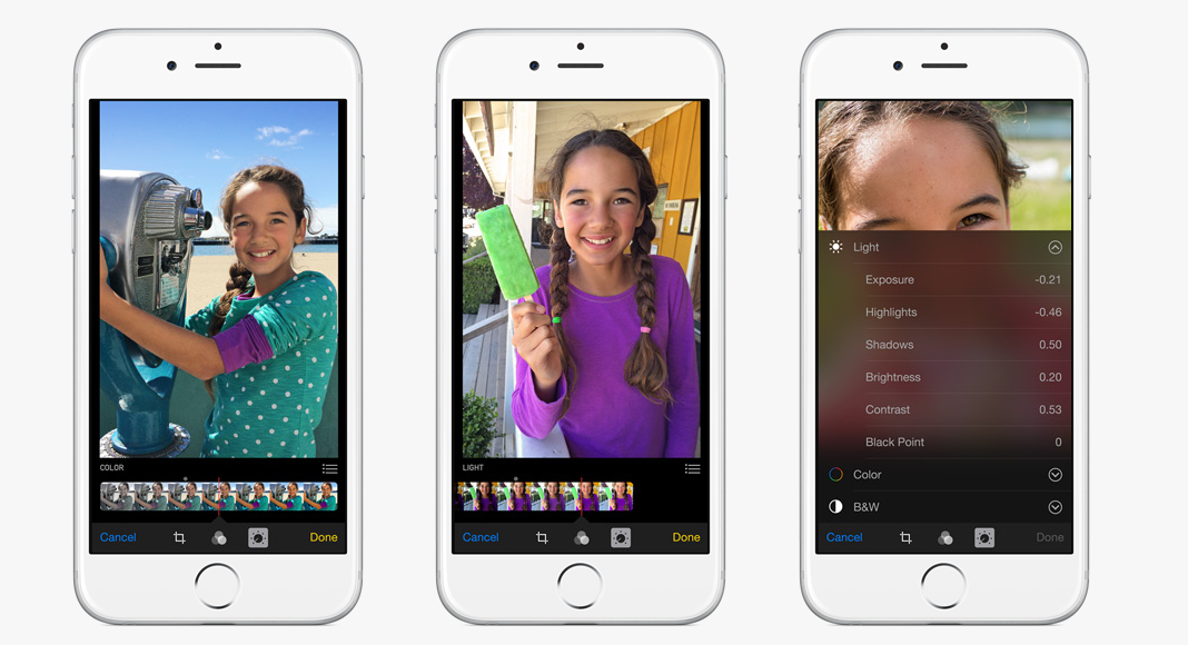 Photo Editing Features iOS 8