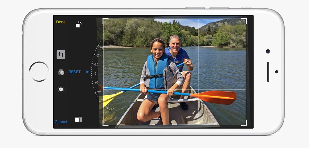 Quick Photo editing features iOS 8
