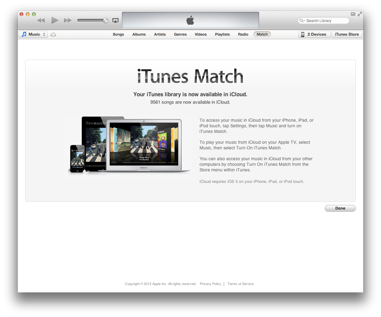 How to update iTunes match manually on Mac