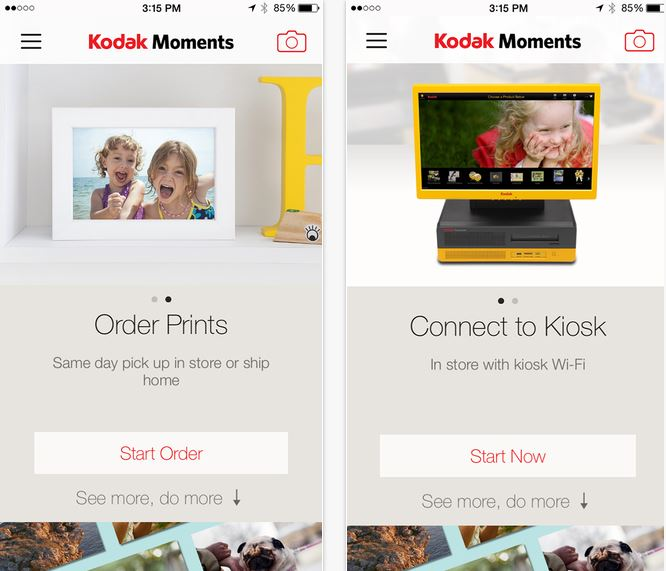KODAK Moments for iOS gets updated to version 1 2