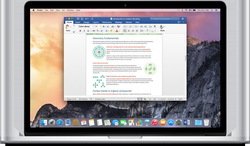 windows office 2016 para mac