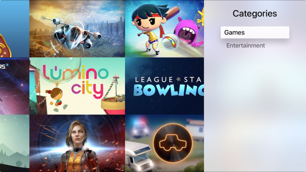 Apple adds new Categories section to Apple TV App Store