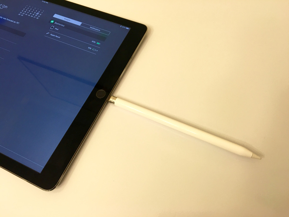 How to check battery status of Apple Pencil