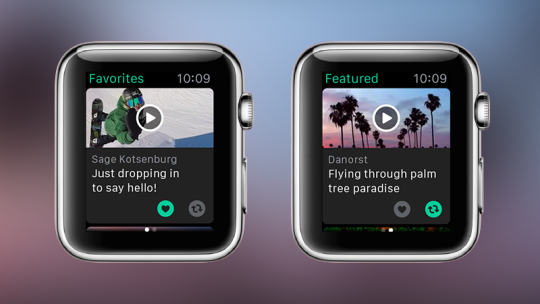 Vine app gets update and brings Apple Watch support