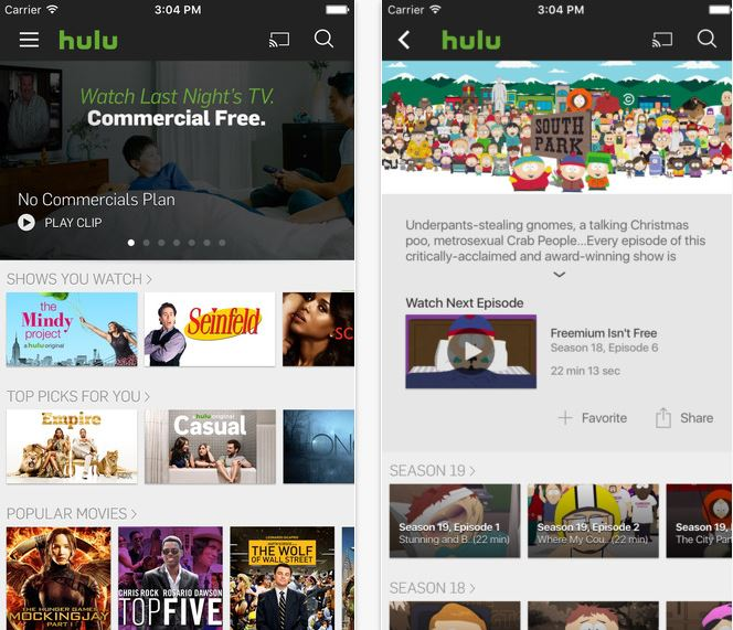Hulu plans to offer offline viewing on iPhones & iPads