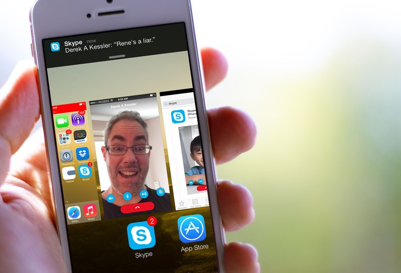 Skype on iPhone and iPad support group video call soon