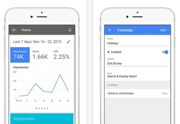 Adwords app for iPhone
