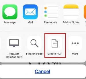 iOS 11: How to Save a Webpage as PDF & Store in Files App