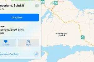 Apple maps error