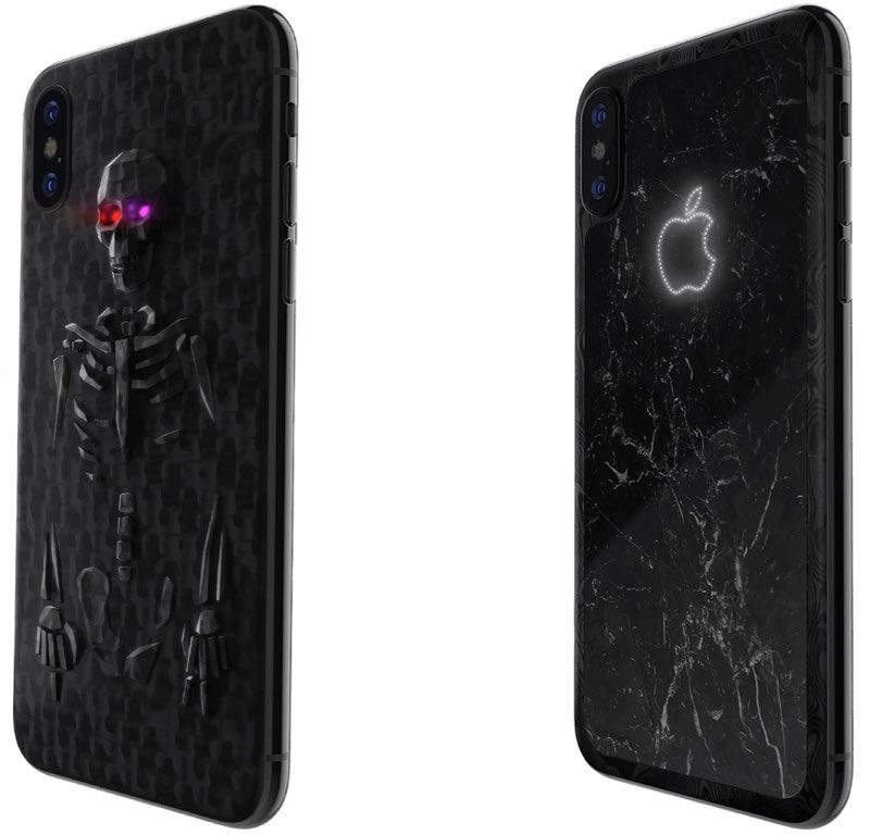 pretty nice 900c3 13ba1 Custom iPhone X models made of marble, alligator leather, or ...