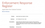 NZ government warns Apple