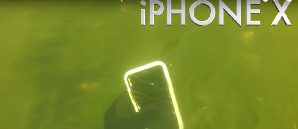 iPhone X survives underwater for two weeks