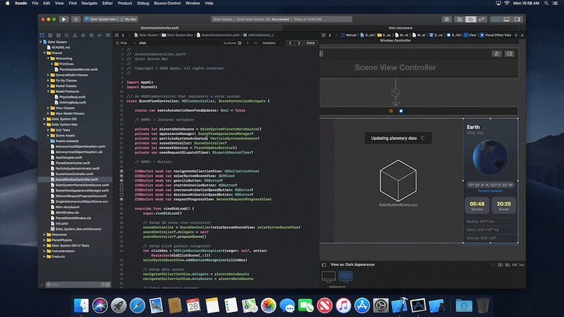 Today Steven Troughton Smith found a brief video on Apple's servers that arrives to show Xcode 10 working on macOS 10.14