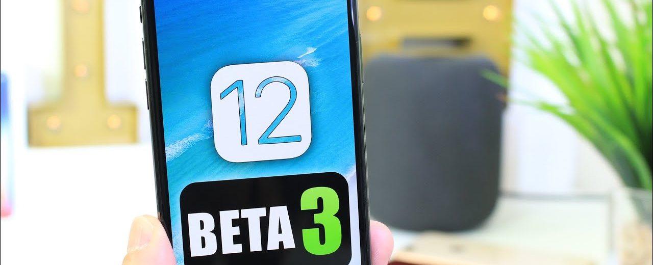 iOS 12 Beta 3